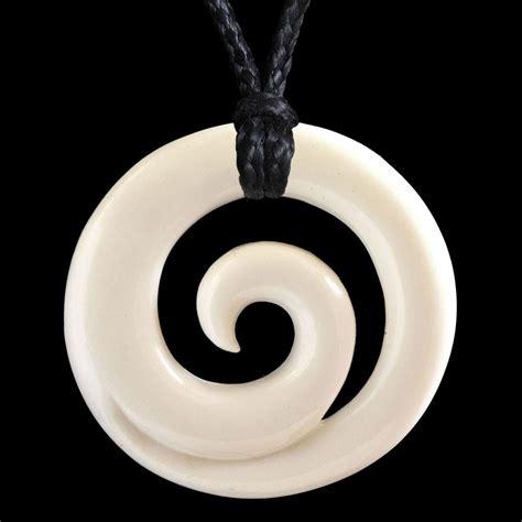 Maori Style Koru Circle Bone Carving Necklace - The Bone ...