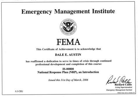 image gallery nims 100 certificate