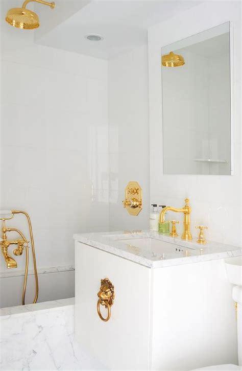 white  gold bathroom design ideas