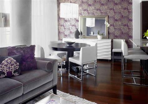 mora cuisine idee deco salon gris prune deco maison moderne
