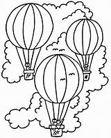 Balloon Air Coloring Pages Printable Colouring sketch template