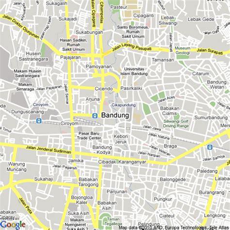 map  bandung indonesia hotels accommodation