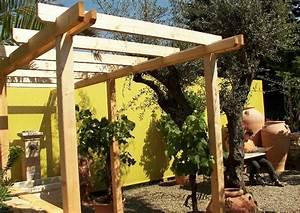Pergola Holz Selber Bauen : mediterraner garten mit pergola aus holz ~ Markanthonyermac.com Haus und Dekorationen