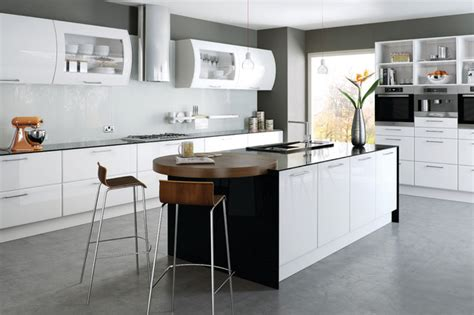 Laminate For Bathroom Floor by High Gloss White Kitchens Modern Kitchen Cabinetry