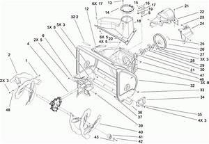 John Deere 826 Snowblower Parts Diagram