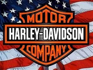 Best Harley Davidson: Harley Davidson Logo Wallpaper with Flag