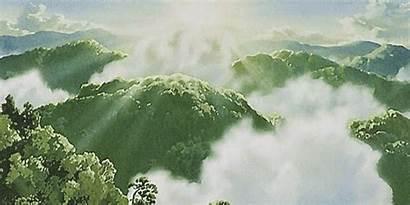 Princess Landscape Mononoke Anime Nature Ghibli Studio