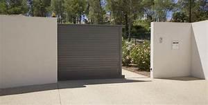 Portail Alu Coulissant : portail aluminium contemporain shar pei portail alu ~ Edinachiropracticcenter.com Idées de Décoration