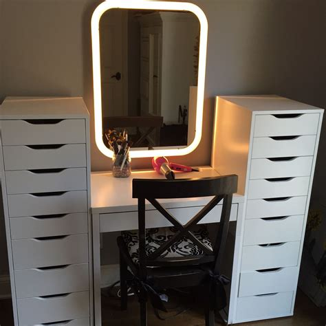 desk with drawers and mirror ikea makeup station 1 micke desk 2 alex drawer sets 1