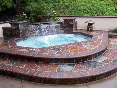 Backyard Tub by Small Tub With Waterfall Picture Gallery Of Custom