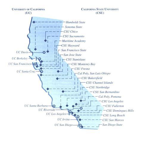 map  universities  california bing images road