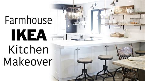 white ikea kitchen  room makeover modern farmhouse