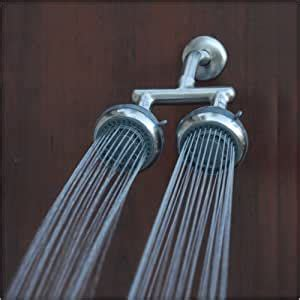 Amazon.com: First Mate Double Shower Head System, Brushed