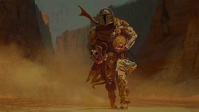 Mandalorian 4k Wallpapers Concept Wars Yoda Wallpapersafari