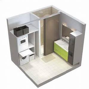 plan d39une salle de bains avec buanderie buanderie With porte d entrée pvc avec seche linge mural salle de bain