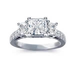 blue nile engagement ring blue nile style 5923 three pave princess cut engagement ring engagement rings