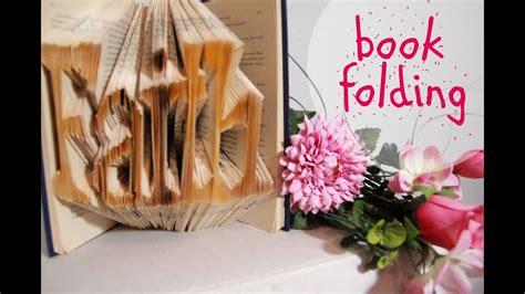diy book folding buecher falten youtube