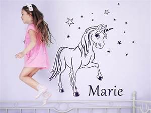 Wandtattoo Name Kind : wandtattoo verzaubertes pony mit name von ~ Sanjose-hotels-ca.com Haus und Dekorationen