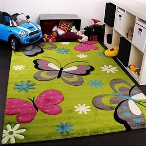 Teppich Kinderzimmer Rosa : kinder teppich schmetterling design gr n creme rot pink kinderteppiche ~ Yasmunasinghe.com Haus und Dekorationen
