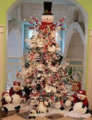 snowman christmas tree ideas - Snowman Christmas Tree Decorations