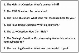 7 Essential Coaching Questions Can Improve Your Practice