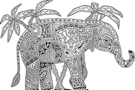 printable coloring page elephant doodles and lettering
