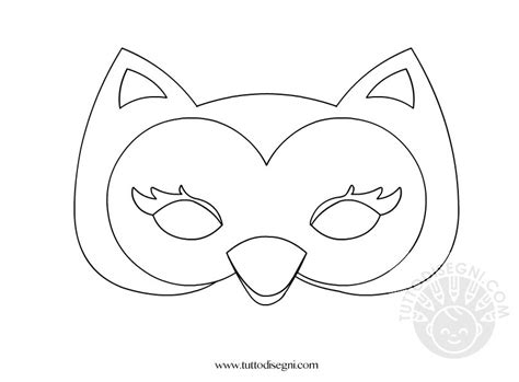 maschere da colorare animali maschere animali gufo tuttodisegni