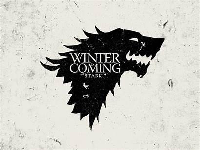 Thrones Stark Winter Coming Crest Wolves Direwolf