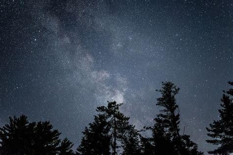 Nature Stars Milky Way Night Galaxy Astro Trees Sky Free