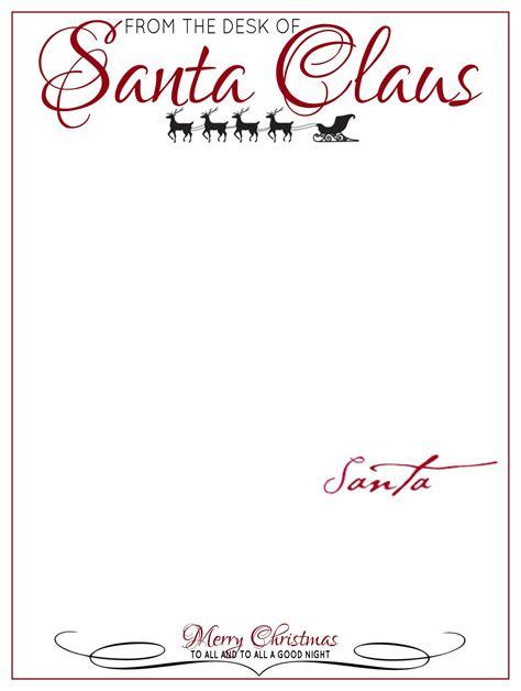 desk  letter head  santa claus