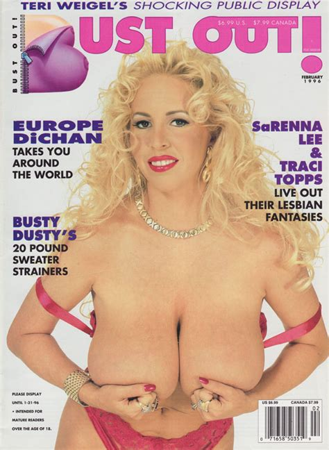 Bust Out February 1996 Adult Magazine Back Issue Bust Out