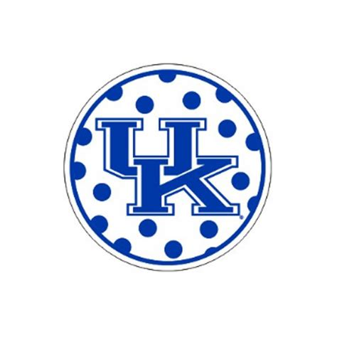 kentucky wildcats polka dot uk decal at sport seasons