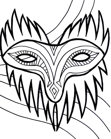 printable mardi gras coloring pages  kids