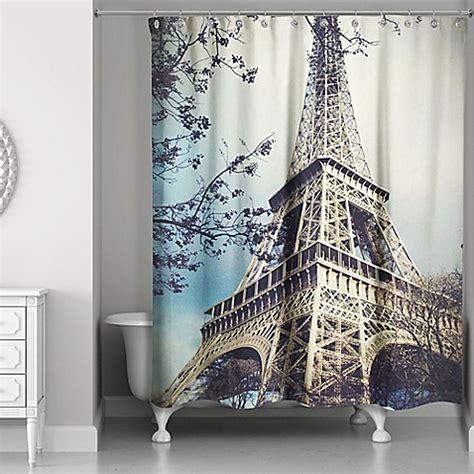 eiffel tower shower curtain designs direct hazy eiffel tower shower curtain bed bath