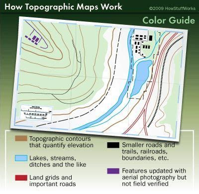 read  topographic map  images map reading