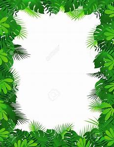 Jungle Leaves Background Clipart - ClipartXtras