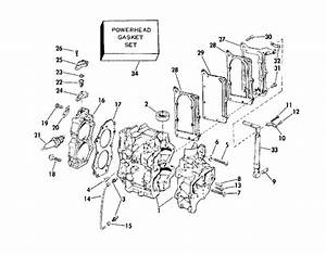 Johnson Cylinder  U0026 Crankcase Parts For 1975 6hp 6r75r