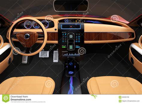 interieur de voiture de luxe int 233 rieur 233 l 233 gant de voiture 233 lectrique avec la d 233 coration en bois de luxe de mod 232 le photo stock
