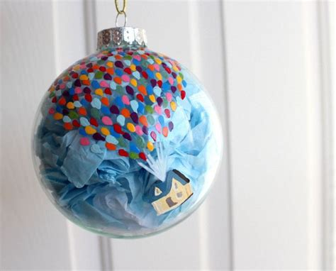 up inspired balloon house glass christmas ornament