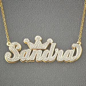 Personalized Gold Name Crown Pendant 3d Double Plate. Popular Mens Wedding Rings. Egyptian Pharaoh Necklace. Princess Necklace. Historic Watches. Track Watches. White Gold Wedding Rings. Diamond Eternity Bracelet. Star Shaped Earrings