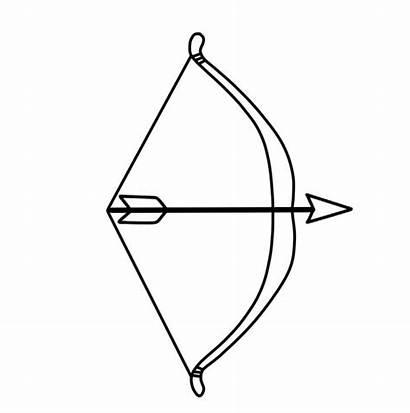 Arrow Bow Coloring Easy Coloringpagez