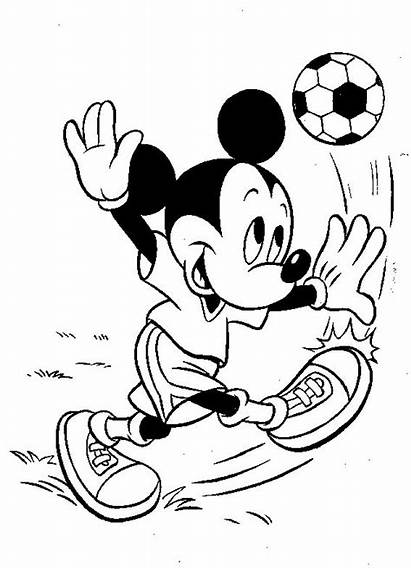 Mouse Mickey Coloring Minnie Pages Soccer Ice