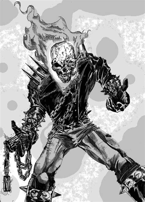 coloriages  imprimer ghost rider numero