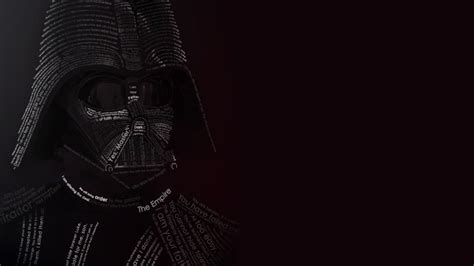 Darth Vader Typographic Portrait Wallpaper - Typography HD