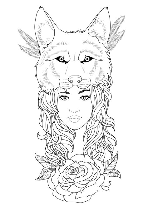 Pin by Da'Londa Taylor on Coloring Pages | Tattoo designs, Tattoo sketches, Wolf girl tattoos