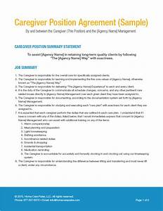 Sample caregiver position agreement home care pulse for Caregiver agreement template