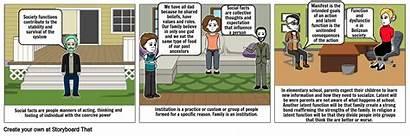 Storyboard Sociology Emile Durkheim