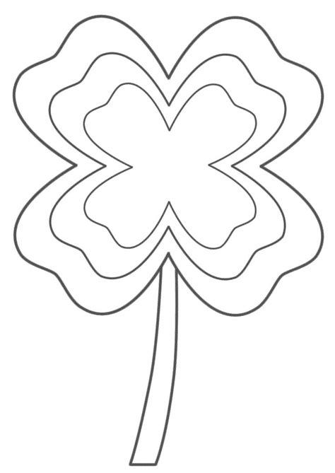 shamrock coloring page st patricks day  leaf