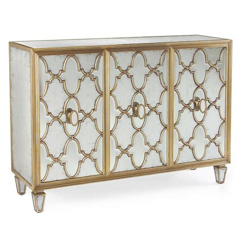 mirrored sideboard table babette regency silver leaf mirrored gold 4166