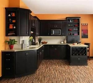 couleur peinture cuisine 66 idees fantastiques With delightful meuble de cuisine en bois rouge 5 cuisine